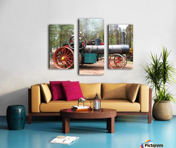 Logging Steam Tractor Canvas print