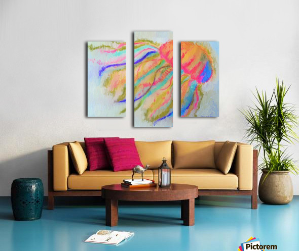 Jellyfish in watercolor Canvas print
