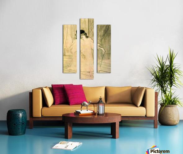 Cecy Loftus by Toulouse-Lautrec Canvas print