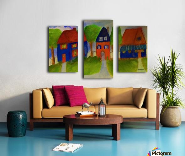 Whimsical Houses Canvas print