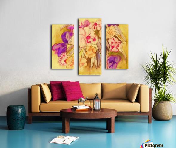 Floral pansies Canvas print