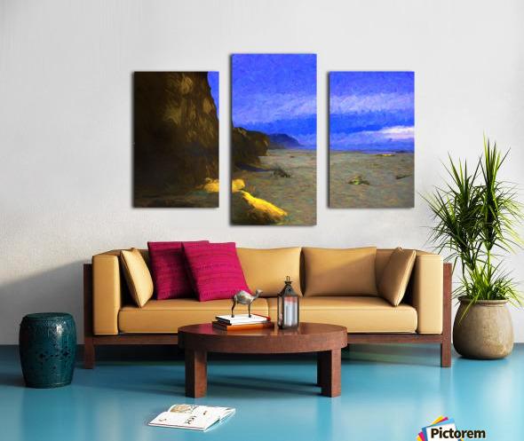 Yachats Beach Painting Canvas print