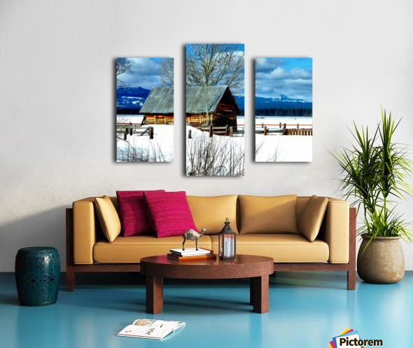 Winter Homestead  Canvas print