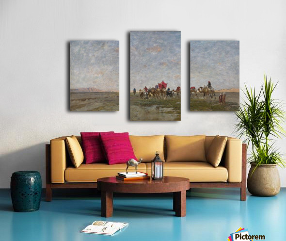 Caravan in the desert Canvas print