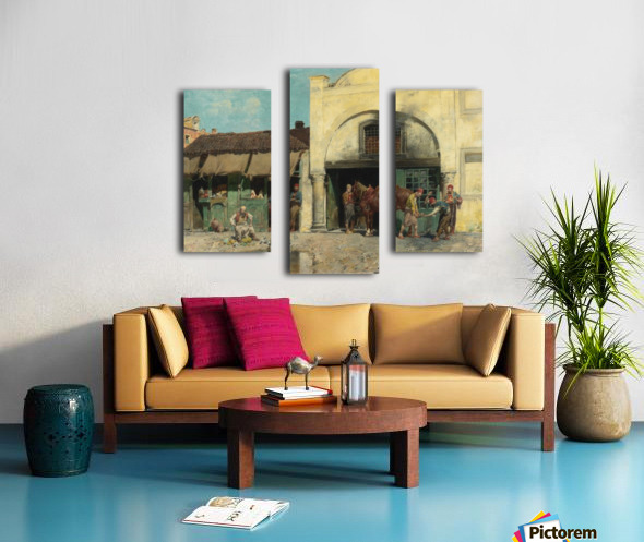 Oriental market Canvas print