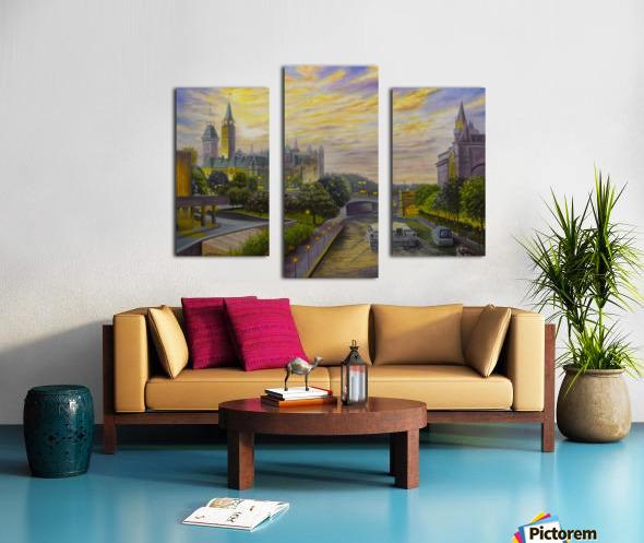 Rideau Canal in Ottawa Canvas print