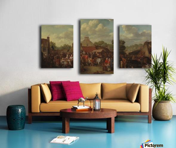 Pitlessie Fair Canvas print