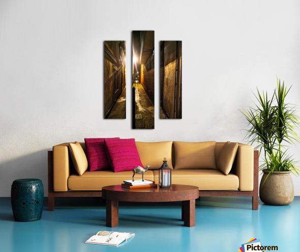 Alley light Canvas print