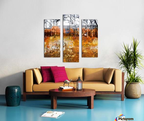 Les saisons Canvas print