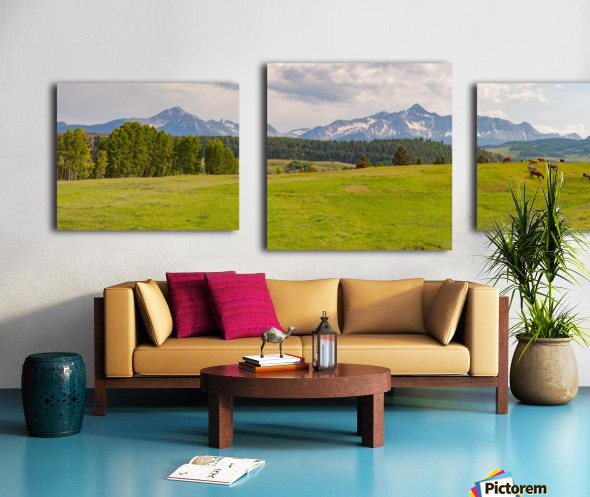 Wilson Peak with Horses Canvas print
