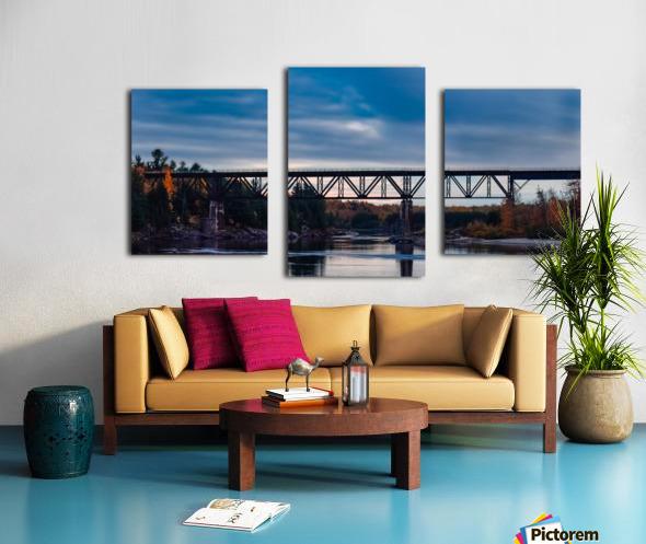 Lheure bleue Canvas print