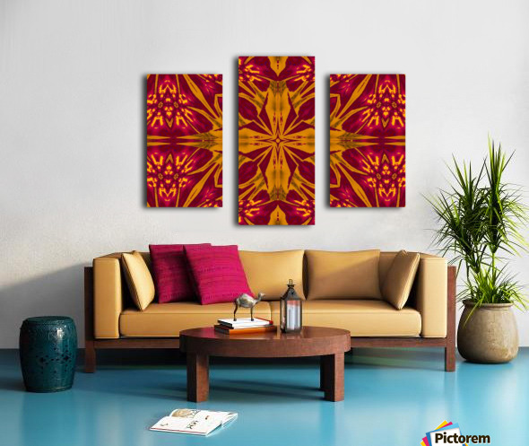 Wildflower of Gold and Red Canvas print
