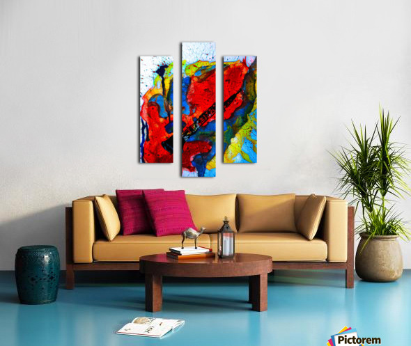 Clarinet electrified Canvas print