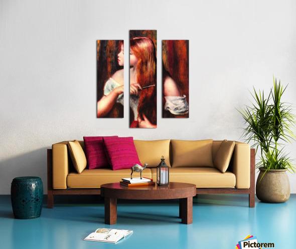 Combing girl Canvas print