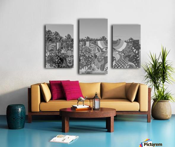 Bursting with Colour B&W Canvas print