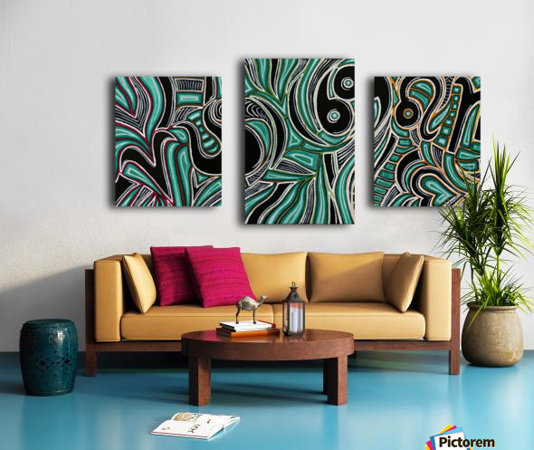Synergy Triptych Left panel Canvas print