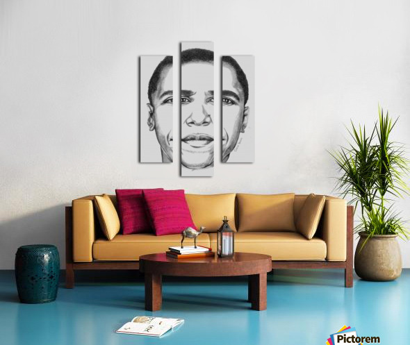 Leader's face Canvas print