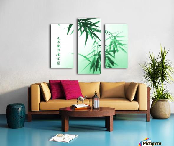 Green Bamboo Twig Canvas print