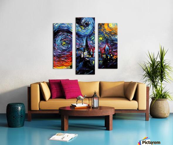 Castle Starry Night print van Gogh parody Canvas print
