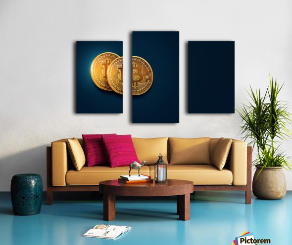 Bitcoin Canvas print
