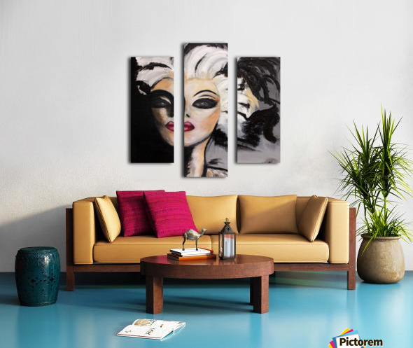 My Neighbour with White Hair Canvas print