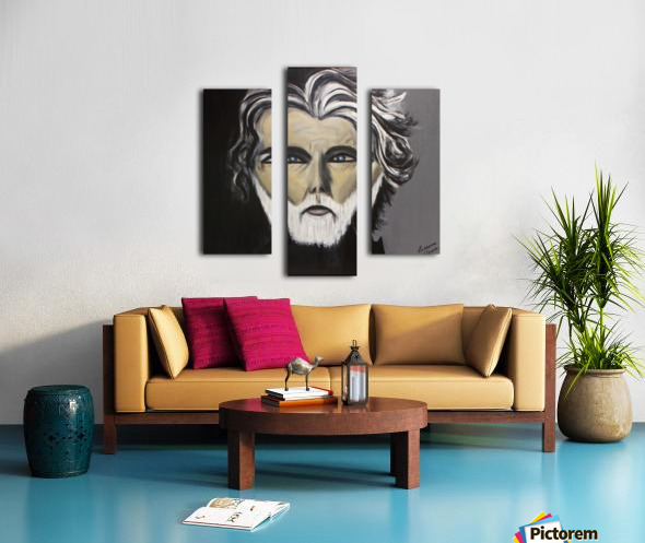 My Friend with the White Beard Canvas print