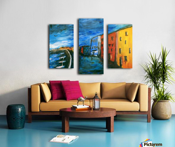 The Boardwalk Original Canvas print