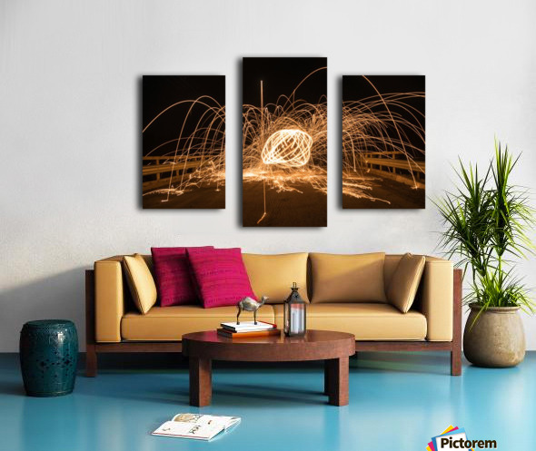 Spiral orb Canvas print