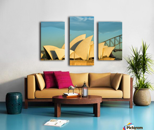 First plane of the morning Sydney Opera House Canvas print