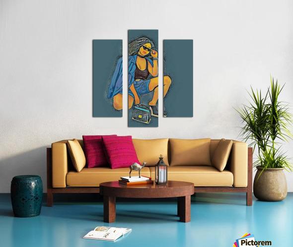 Superspy Canvas print