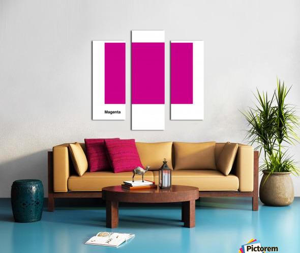 Solid Magenta Process color Canvas print
