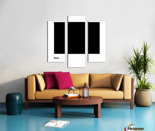 Solid Black process color with word Canvas print