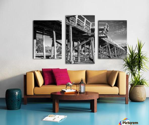 Old disused railway bridge New South Wales australia Mono Canvas print