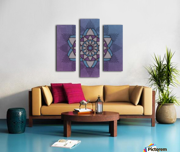 Simple Vintage Glow Mandala Solid Canvas print