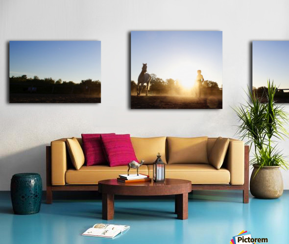 Lunging at Sunset Canvas print