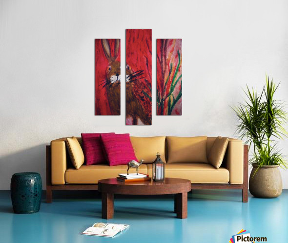 Red Rabbit Canvas print
