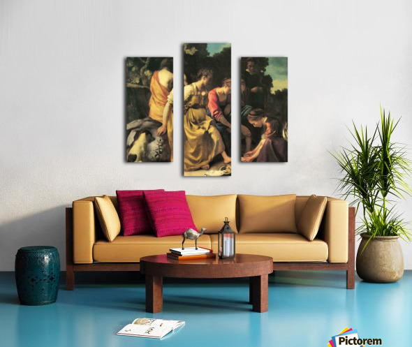 Diana and her nymphs by Vermeer Canvas print