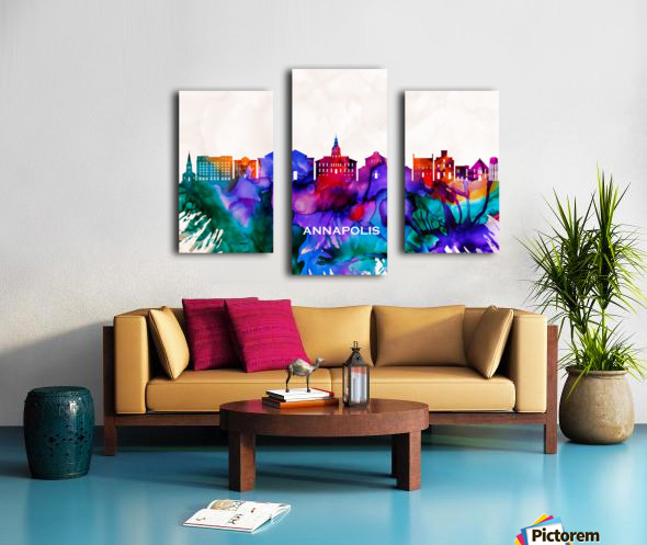 Annapolis Skyline Canvas print