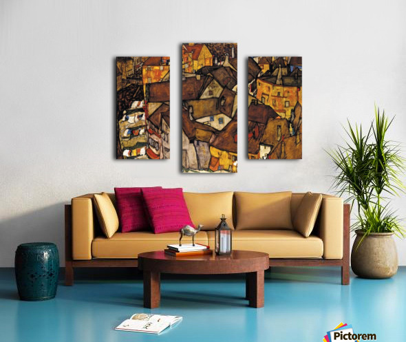 Egon Schiele - Crescent of Houses Canvas print