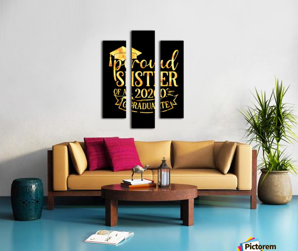 Proud SISTER of A 2020 Graduate Canvas print