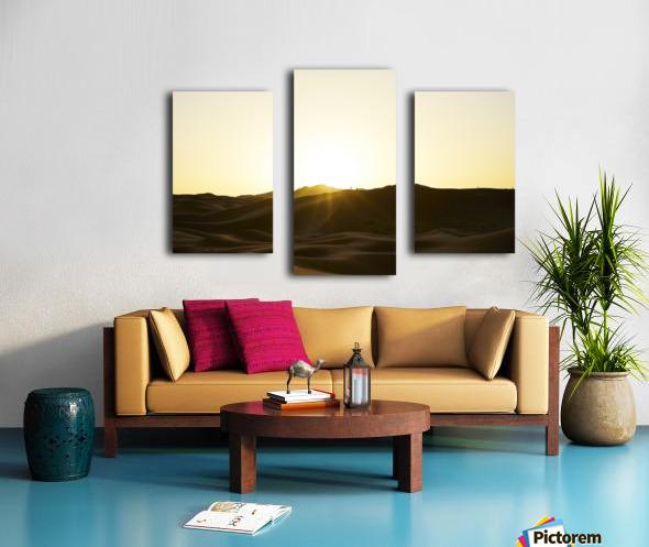 Erg Chebbi at Sunset Canvas print