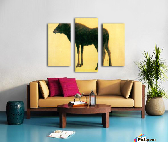 Elk by Bierstadt Canvas print