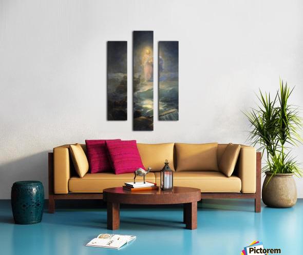 Jesus walks on water Canvas print