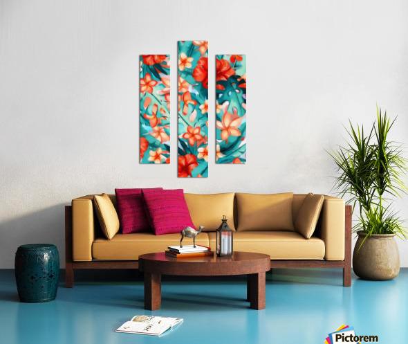 Vibrant Tropical Floral  Canvas print