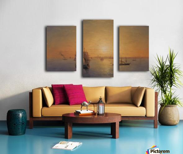 Russian Fleet at Sunset Canvas print