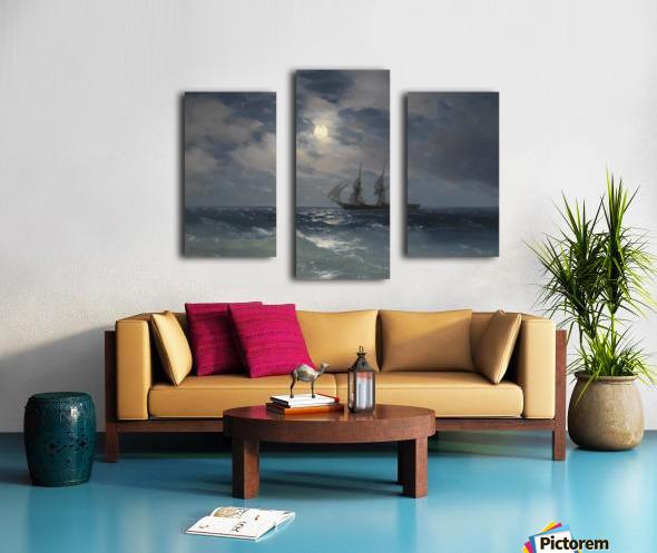 The Brig Mercury in moonlight Canvas print