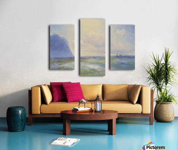 Sun on the sea Canvas print