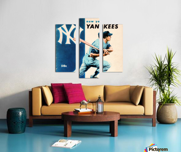 1956 New York Yankees Yearbook Wall Art Canvas print