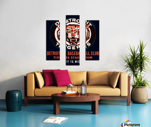 1963 Detroit Tigers Vintage Baseball Club Canvas print