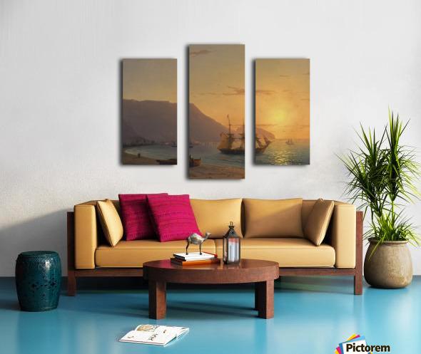Sunset in Crimea Canvas print
